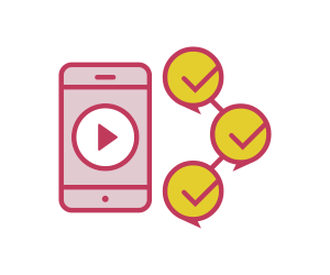 ícone que representa um aplicativo de celular com vídeos