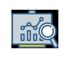 ícone que representa relatórios de gestão escolar