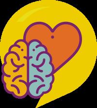 icone demonstrando cogniçao e sociemocional - um cérebro e eum coraçao jutnos
